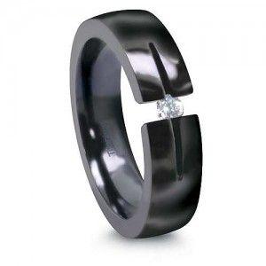 titanium diamond engagement ring