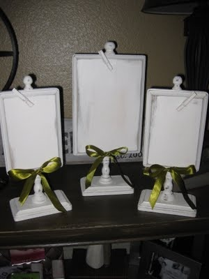 Cute photo/recipe holders - I can do this!: Recipes Cards Holders, Recipe Card Holders, Recipe Cards, I M Crafty, Cool Ideas, Wooden Pedestal, Baby, Pedestal Frames, Business Ideas