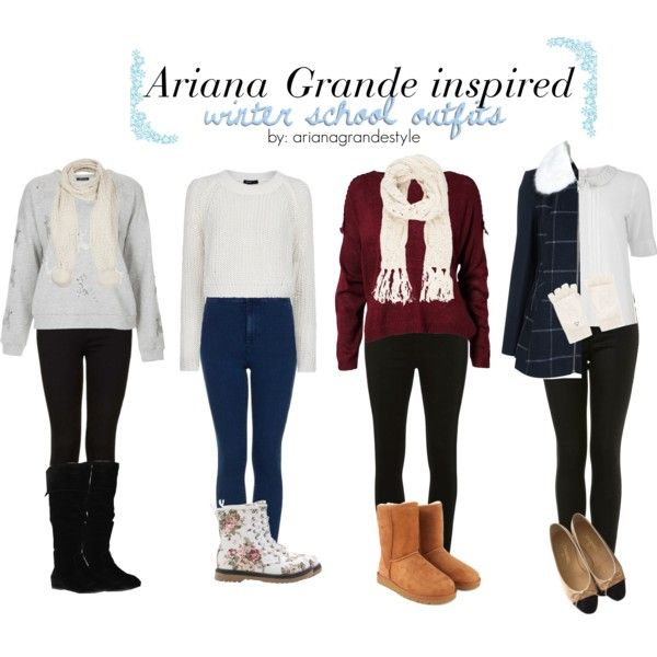 Ariana Grande Inspired Winter School Outfits Outfits by arianagrandestyle (dresslikearianaa on polyvore)