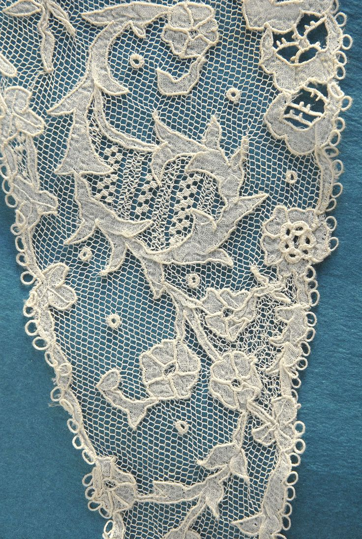 Carrickmacross applique - detail
