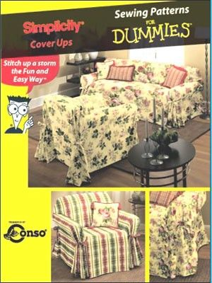 DUMMIES SLIPCOVER Pattern - Sewing for Dummies Chair & Couch Slipcovers - BESTSELLING