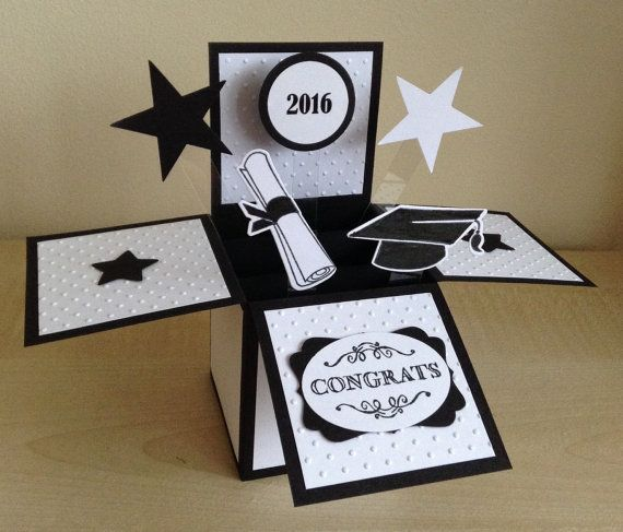 Handmade Graduation Card in a box popup by induscraftcreations