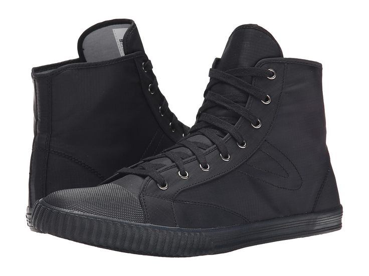 TRETORN TRETORN - HOCKEY BOOT RIP-STOP (BLACK/BLACK) MEN'S LACE UP CASUAL SHOES. #tretorn #shoes #