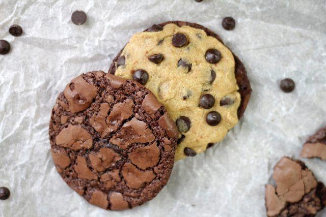 Nutellakakor med Cookie dough