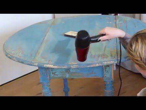 Quick fix - Annie Sloan's chalk paint - YouTube