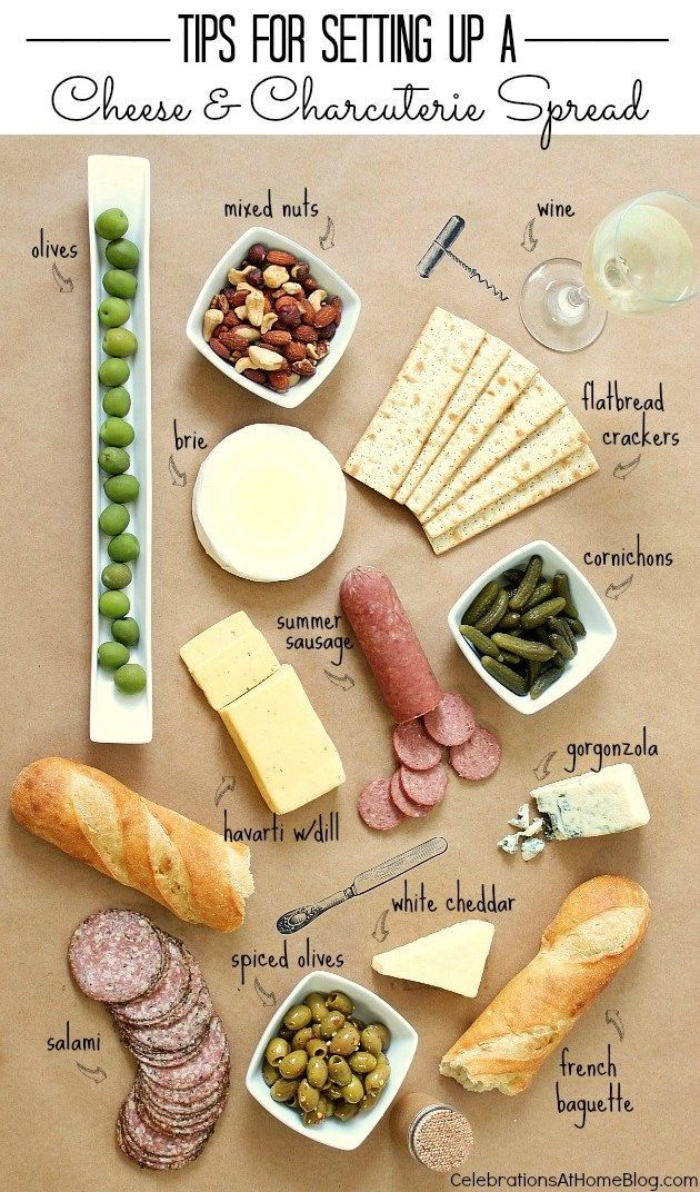 Tips for setting up a cheese and charcuterie spread!