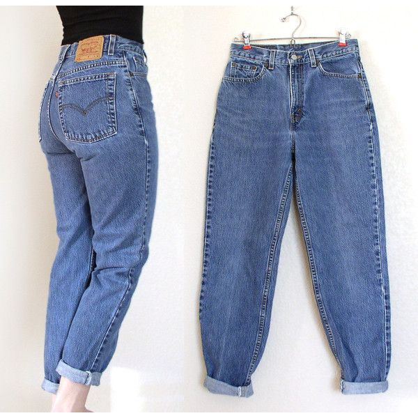 Vintage 80s 90s High Waist Stone Washed Levi's 512 Jeans - Medium Blue... ($36) ❤ liked on Polyvore featuring jeans, pants, bottoms, trousers, high rise boyfriend jeans, high-waisted boyfriend jeans, slim jeans, vintage high waisted jeans and high-waisted jeans