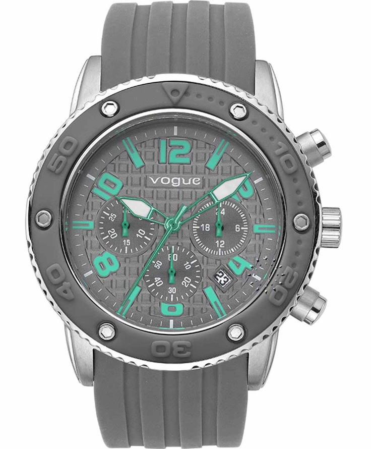 VOGUE Chronograph Grey Rubber Strap  Τιμή: 165€  Αγοράστε το εδώ: http://www.oroloi.gr/product_info.php?products_id=31638