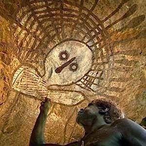 Cuenta una leyenda de los aborígenes australianos, que una vez se libró una cruenta batalla en Uluru, entre los Hombres Serpiente Venenos...