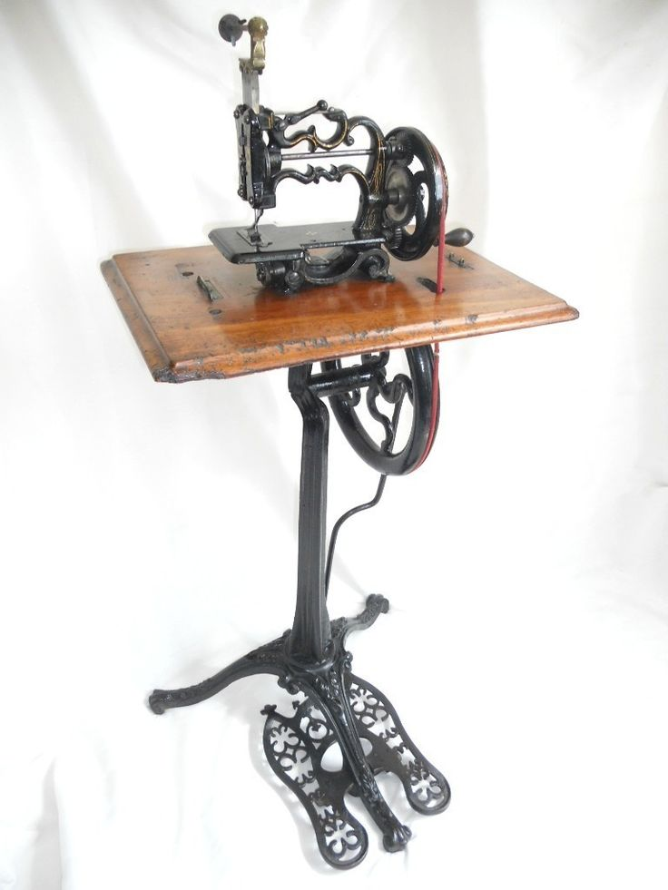 VICTORIAN WEIR PEDESTAL TREADLE SEWING MACHINE