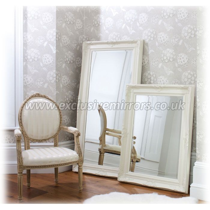 Large 'Isabella' Cream Wall Mirror 117 x 86cm [EE387] - £188.10 - Mirrors for Every Interior from Exclusive Mirrors