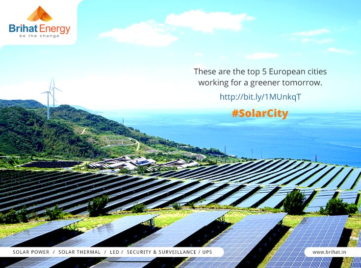 These are the top 5 European cities working for a greener tomorrow. http://bit.ly/1MUnkqT #SolarCity  Visit: goo.gl/n6B95m