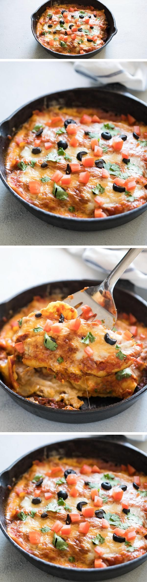 ONE POT STOVETOP ENCHILADAS is an easy, no fuss dinner recipe. These enchiladas are ready in 30 minutes, insanely delicious and super cheesy.