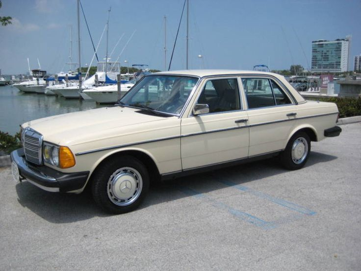 Mercedes Benz 240 D 1982 - Mine was white.  I figured it would be the perfect teenager car.  Built like a tank for protection, and slow enough with the diesel engine that you couldn't runaway from trouble!