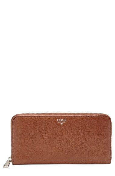 Fossil 'Sydney' Zip Around Leather Phone Wallet available at #Nordstrom