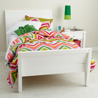 Kids' Beds: Kids White Modern Blake Bed in Beds