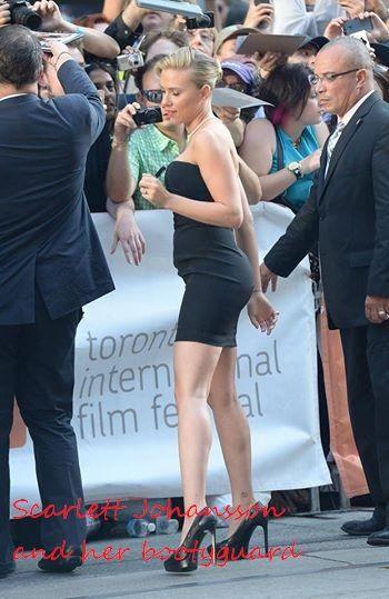 The Memes Factory Scarlett Johansson and her bootyguard