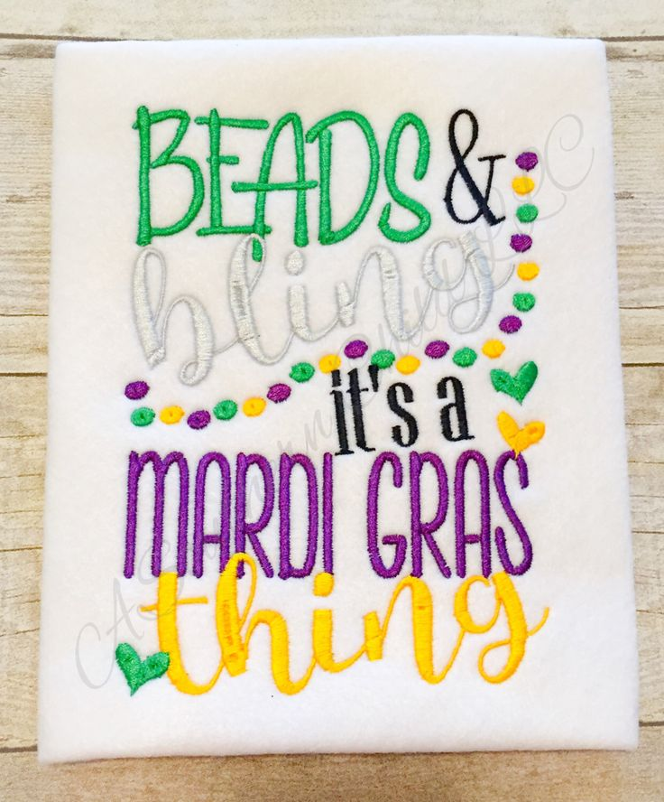 A personal favorite from my Etsy shop https://www.etsy.com/listing/262640415/mardi-gras-beads-bling-bodysuit-shirt-or