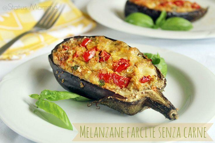 Melanzane farcite senza carne: Le melanzane ripiene sono sempre un ottimo secondo piatto molto semplice e gustoso da preparare.