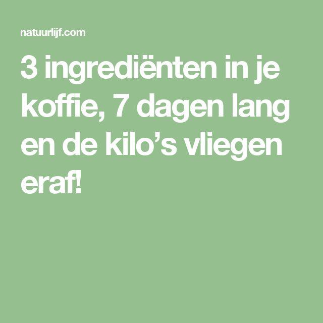 3 ingrediënten in je koffie, 7 dagen lang en de kilo's vliegen eraf!
