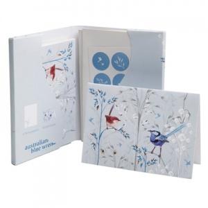 Blue Wren recycled card set $20