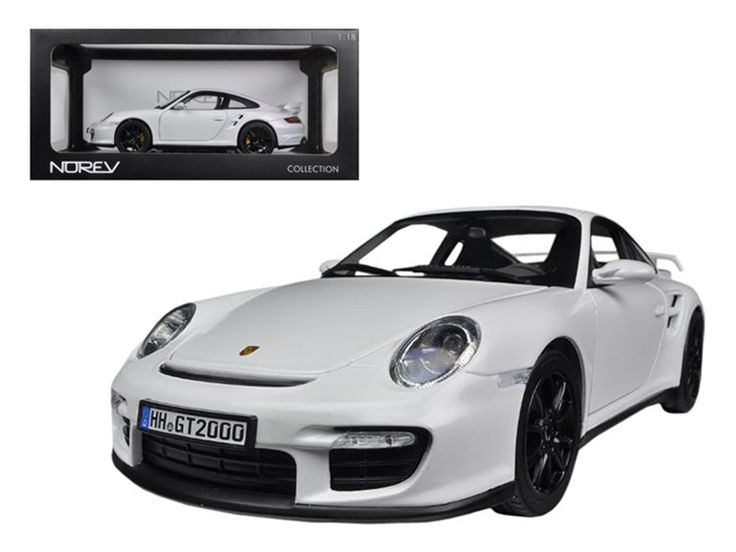 2007 Porsche 911 997 GT2 White 1/18 Diecast Car Model by Norev - Brand new 1:18 scale car model of 2007 Porsche 911 997 GT2 White diecast car model by Norev. Rubber tires. Brand new box. Has steerable wheels. Has opening hood, doors and trunk. Detailed interior, exterior, engine compartment. Dimensions approximately L-10.5, W-4.5, H-3.5 inches.-Weight: 4. Height: 8. Width: 15. Box Weight: 4. Box Width: 15. Box Height: 8. Box Depth: 7