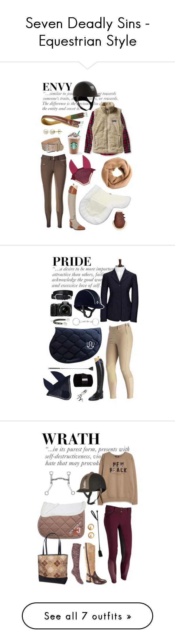 """""""Seven Deadly Sins - Equestrian Style"""" by equine-couture ❤ liked on Polyvore featuring Patagonia, Lord & Taylor, J.Crew, Ariat, Nikon, MANGO, Louise et Cie, Kate Spade, Forever 21 and Diane Von Furstenberg"""