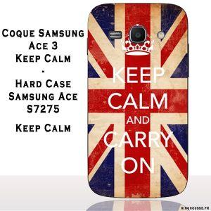 Coque pour samsung galaxy ace 3 Keep Calm. #Coque #Samsung #galaxy #Ace #3 #Case #Cover #telephone #portable #keep #calm #union #jack #drapeau #flag