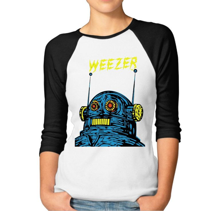 Weezer Rock Band Womens Raglan Baseball Jersey T-shirt Top Crew. Machine Wash / Hand Wash,5.2 Oz. Middle Weight, 7-15 Days For Shipping,Ladies Sizes:S-XXL. Long-Sleeve Baseball T-Shirt,Superb Cotton Material. Perfect For Printing Your Own Team Name On. Two-needle Stitched Bottom And Sleeves,Colorblock Sleeves And Ribbed Crewneck. Double-needle Hem Sleeves And Bottom,Frontal Logo.