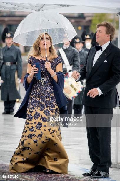 Dutch Royalty at the Opera House celebrating the 80th birthday of Norway's King & Queen with a Gala Banquet, May 10, 2017