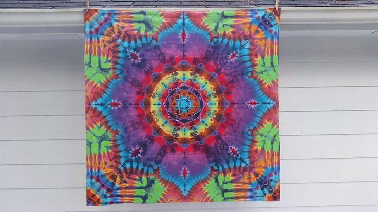 3 Feet 7 inch Handmade Tie dye Tapestry mandala, syf steal your face stealie up-cycled queen sheet heady hippie art square flag by RegenesisDesignsArt on Etsy https://www.etsy.com/listing/210715129/3-feet-7-inch-handmade-tie-dye-tapestry