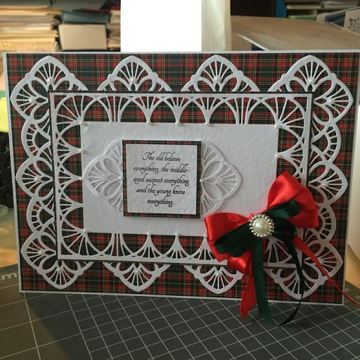 Franki's Craft Chat and Coffee: My bonny wee card.....