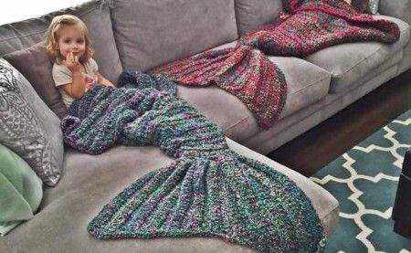 Crochet Mermaid Blanket (Free Patterns)