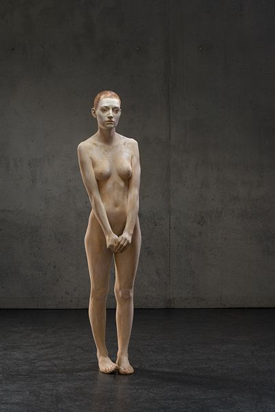 Bruno Walpoth uses simple carving tools to turn pieces of wood (lime and walnut) into human sculptures