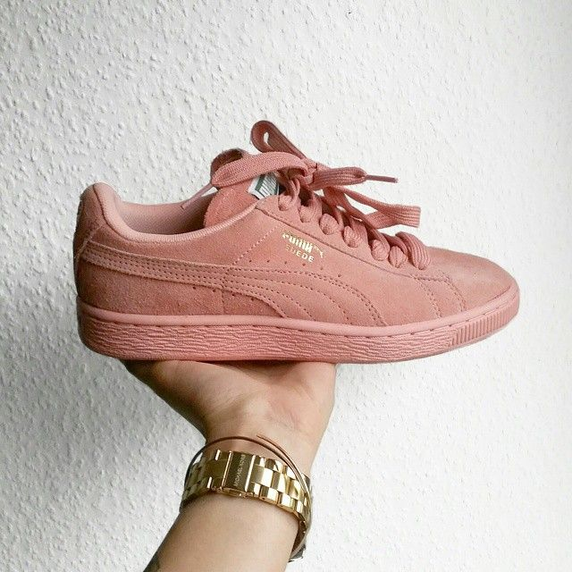pink puma shoes suede