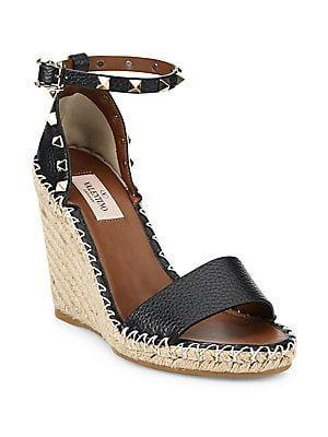 9b84fdef0cd Valentino Garavani Rockstud Espadrille Wedge Sandals this is lower ...