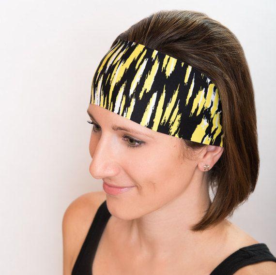Yoga Headband- Bold Electric Headband- Black and Yellow Headband- Yoga Headband- Women's Headband- Fitness Headband – Pittsburgh Steelers