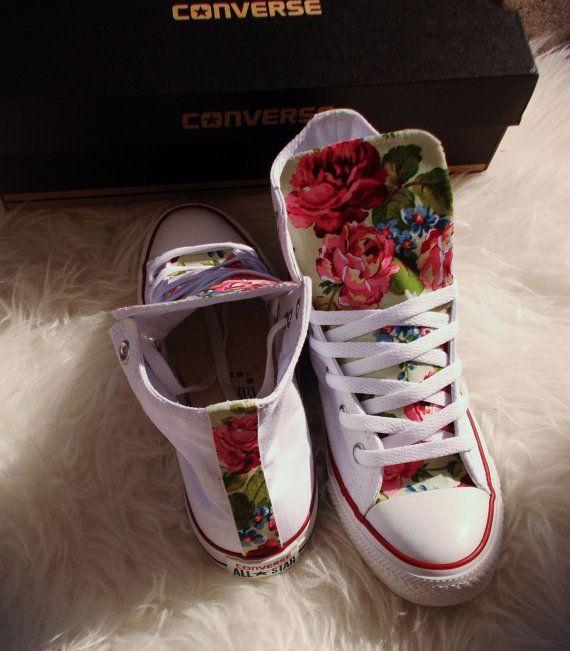 Frühling Blumen Converse Schuhe von ChaoticMayhem auf Etsy