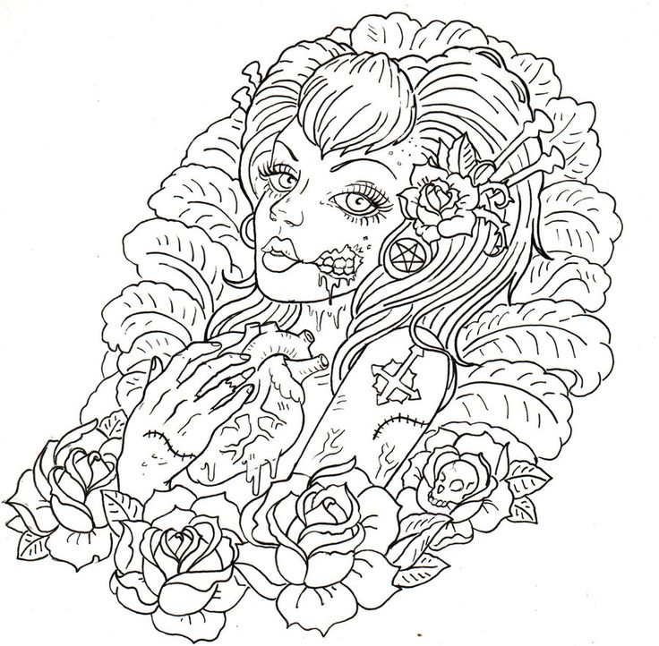 Zombie Girl Tattoo By Israels Daughter On Deviantart Design Pixel