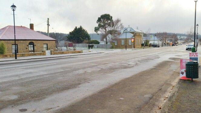 A frosty main street Oatlands Tasmania