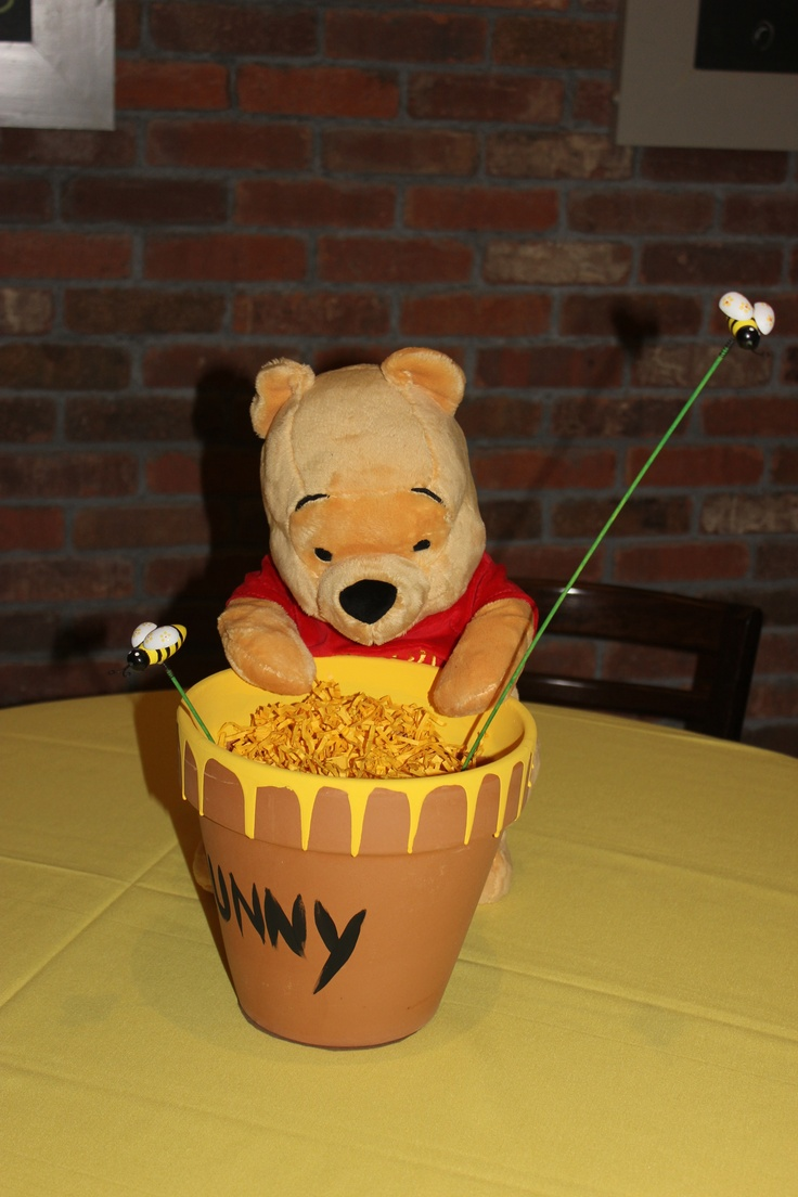 Winnie The Pooh Baby Shower Center Pieces  These Were So Adorable!