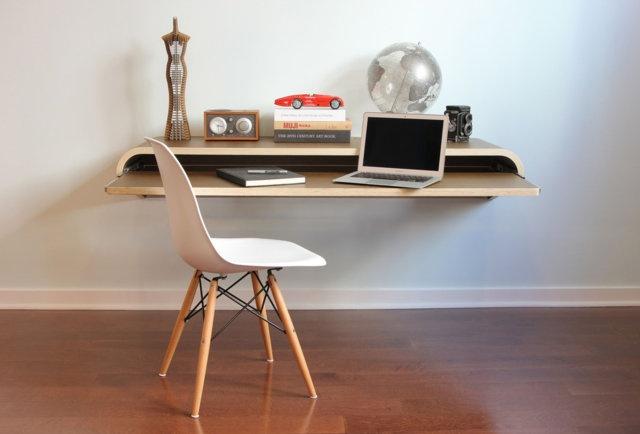 $699 Minimal Float Wall Desk - Walnut