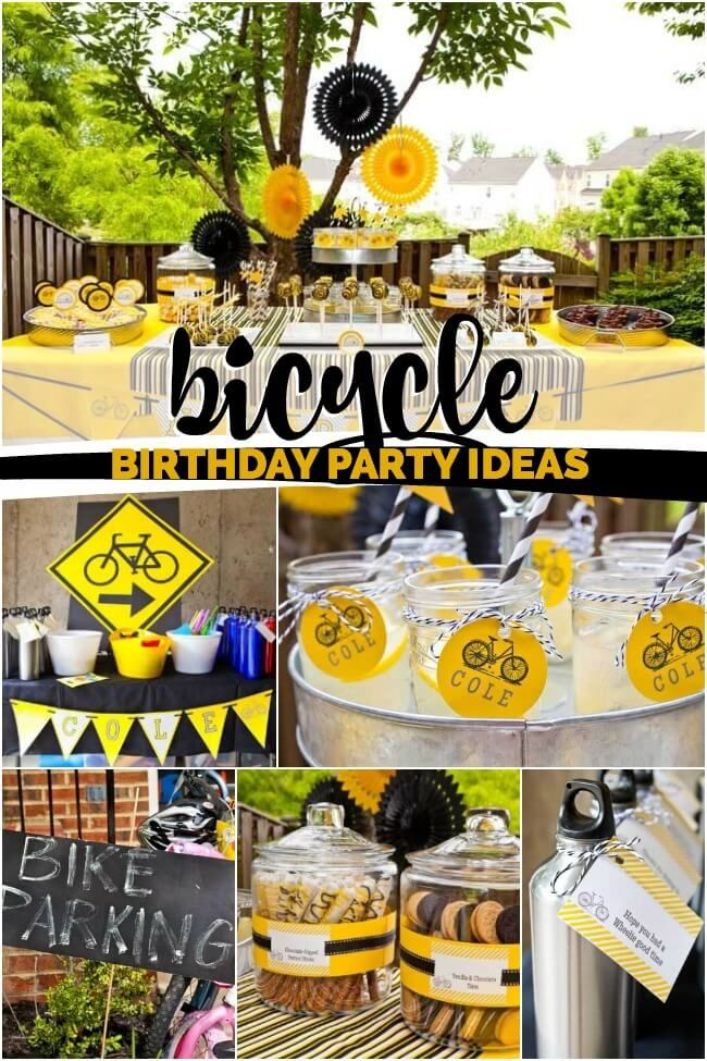 Bicycle Themed Birthday Party