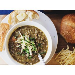 Frugal, delicious, and just the thing for an overcast day: Jaques Pepin's Lentil, Barley, & Sausage Soup – find the recipe in our Winter Catalyst magazine, now on shelves at your neighborhood New Pi. -bp