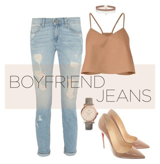 """Boyfriend jeans"" by sherrie-mock on Polyvore featuring TIBI, FOSSIL, Christian Louboutin, Miss Selfridge and boyfriendjeans"