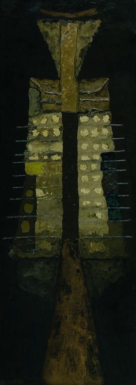 Jan Lebenstein, Figura osiowa, olej, płótno, 180x68, 1959; Placeholder