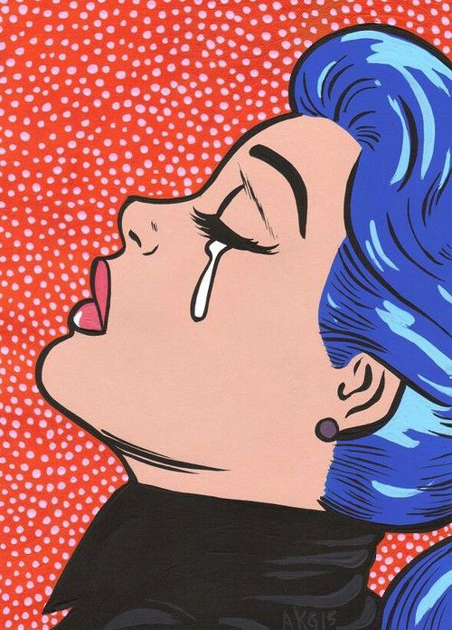Blue Hair Pop Art                                                       …                                                                                                                                                     More