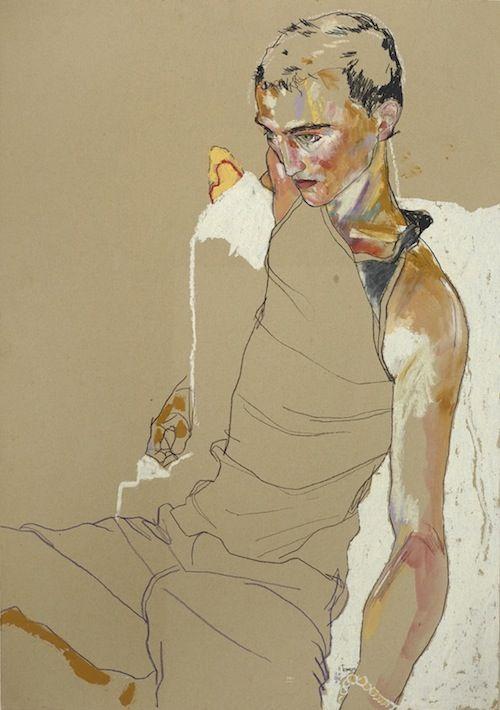 contemporary art fashion illustration Howard Tangye drawings and paintings tu…