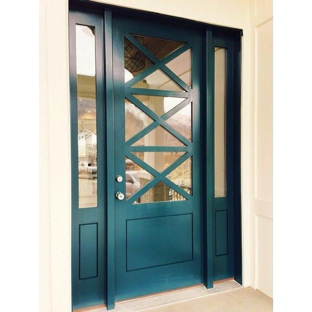 Front door benjamin moore color called dark harbor Dark green front door paint