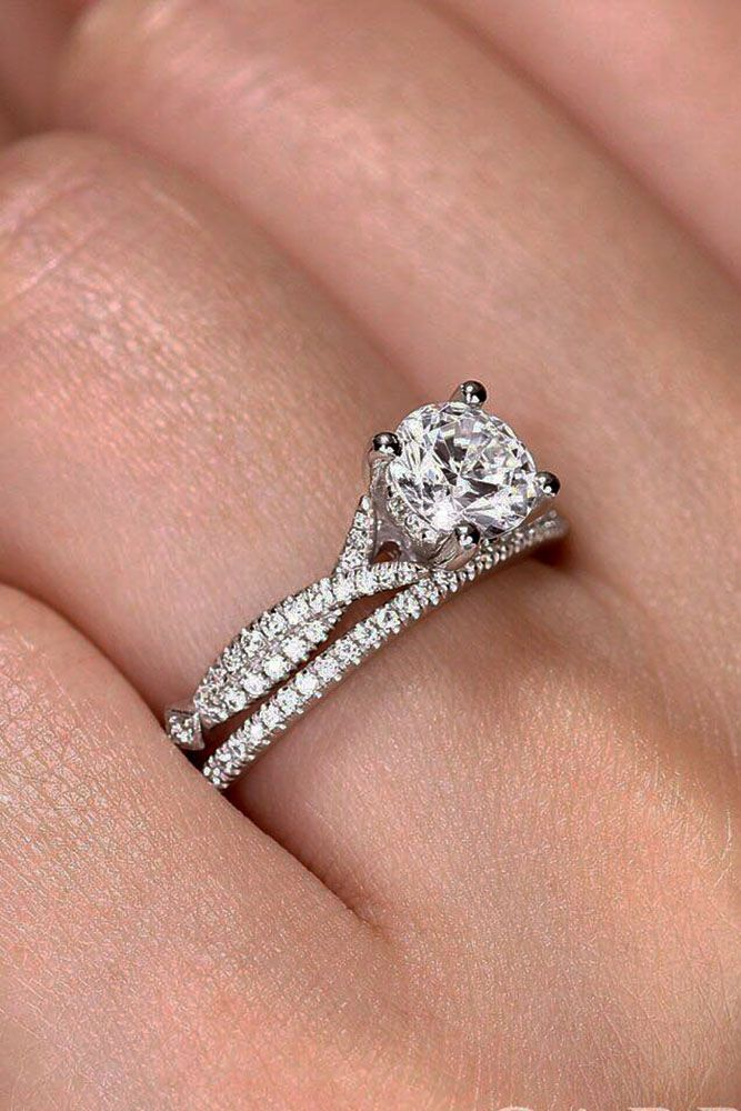 42 Wedding Ring Sets That Make The Perfect Pair Wedding Forward Engagement Rings Twisted Diamond Wedding Rings Sets Wedding Ring Sets